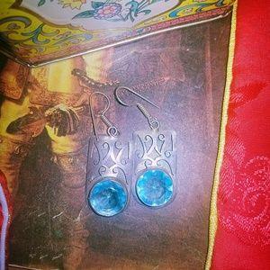 Beautiful Topaz earrings.  Very unique